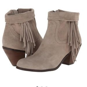 Sam Edelman Louie Suede Ankle Boots Booties Fringe
